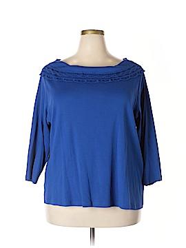Rafaella 3/4 Sleeve Top Size 3X (Plus)