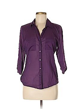 Ann Taylor 3/4 Sleeve Button-Down Shirt Size 8