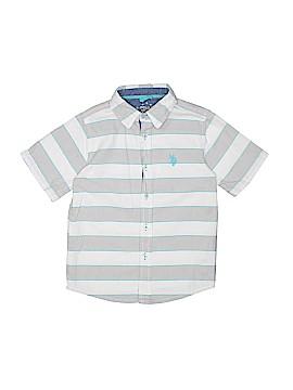 U.S. Polo Assn. Short Sleeve Button-Down Shirt Size 7
