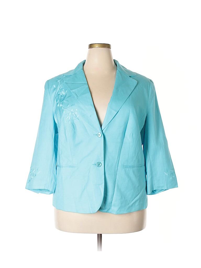 Dress Barn Suit Jacket Blazer Aqua Blue Ladies Size M New