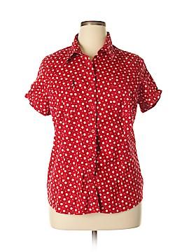 Antilia Femme Short Sleeve Button-Down Shirt Size 2X (Plus)