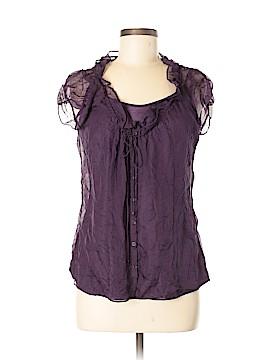 Kenar Short Sleeve Silk Top Size M