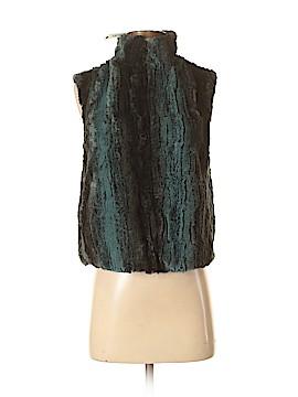Aqua Faux Fur Vest Size XS