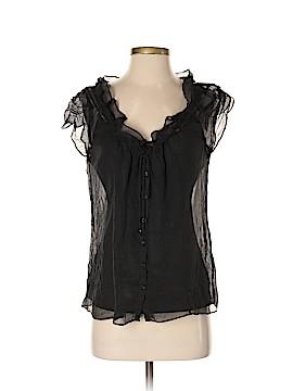 Kenar Short Sleeve Silk Top Size S