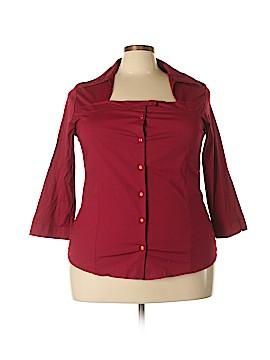American City Wear 3/4 Sleeve Button-Down Shirt Size 22 - 24 (Plus)