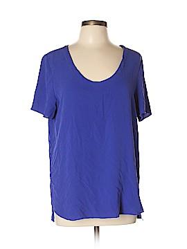 T. Babaton Short Sleeve Silk Top Size L
