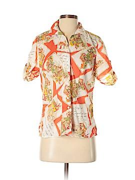 Jones New York Sport Short Sleeve Button-Down Shirt Size S