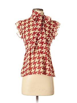 INC International Concepts Short Sleeve Silk Top Size 4
