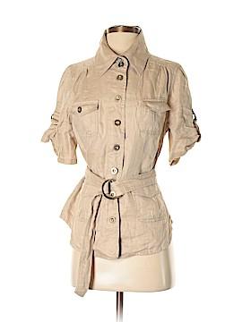LAL Live A Little Short Sleeve Button-Down Shirt Size S