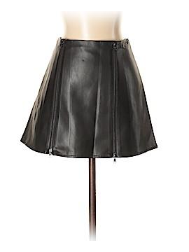 BCBGMAXAZRIA Faux Leather Skirt Size XXS