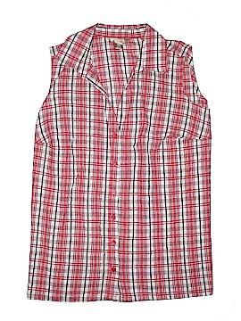 White Stag Sleeveless Button-Down Shirt Size 16W