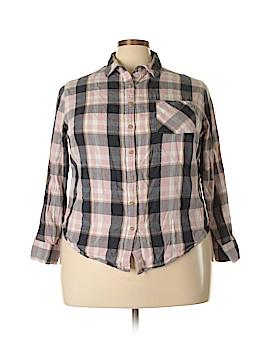 Ava & Viv Long Sleeve Button-Down Shirt Size 2X (Plus)