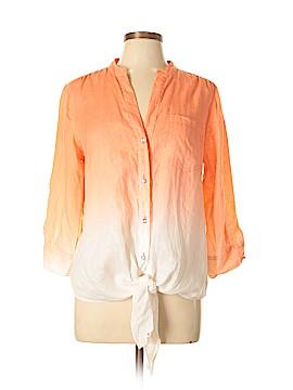 INC International Concepts 3/4 Sleeve Button-Down Shirt Size 12