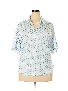 Rebecca Malone Short Sleeve Button-Down Shirt Size 2X (Plus)
