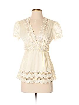 Catherine Malandrino Short Sleeve Blouse Size 2