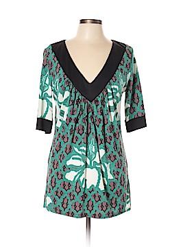 Prairie New York Short Sleeve Silk Top Size L