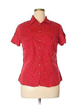 LOGO Short Sleeve Button-Down Shirt Size 16
