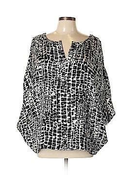Rachel Zoe 3/4 Sleeve Silk Top Size 10
