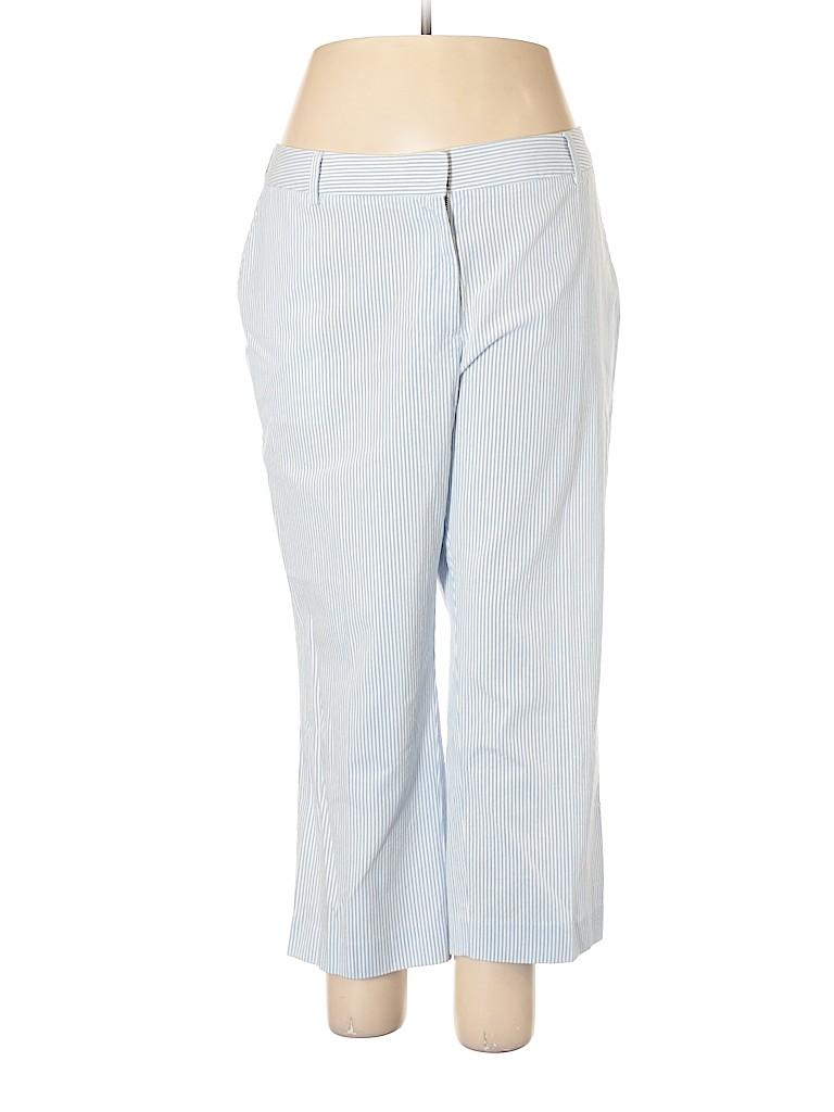 4e075e533c997 Lands  End Stripes Blue Khakis Size 18 (Plus) - 71% off