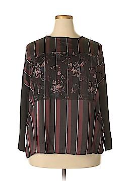Zara W&B Collection Long Sleeve Blouse Size XL