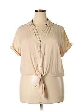 Paper Tee Short Sleeve Blouse Size 2X (Plus)
