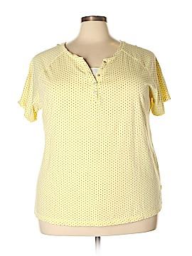 Chic Short Sleeve Henley Size 3X (Plus)