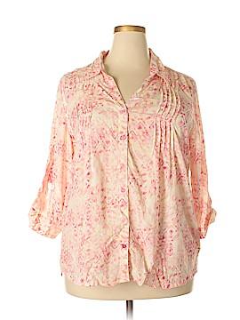 Gloria Vanderbilt 3/4 Sleeve Blouse Size XL