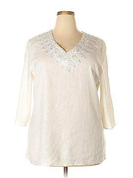 Susan Bristol 3/4 Sleeve Blouse Size 1X (Plus)