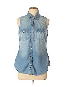 Ali & Kris Sleeveless Button-Down Shirt Size L