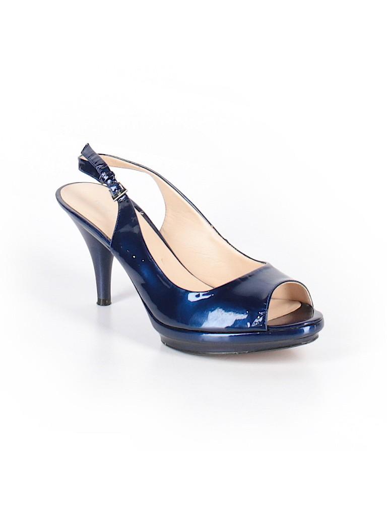 Nine West Metallic Navy Blue Heels Size