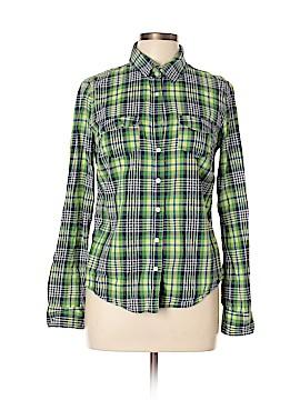 Signature Long Sleeve Button-Down Shirt Size L