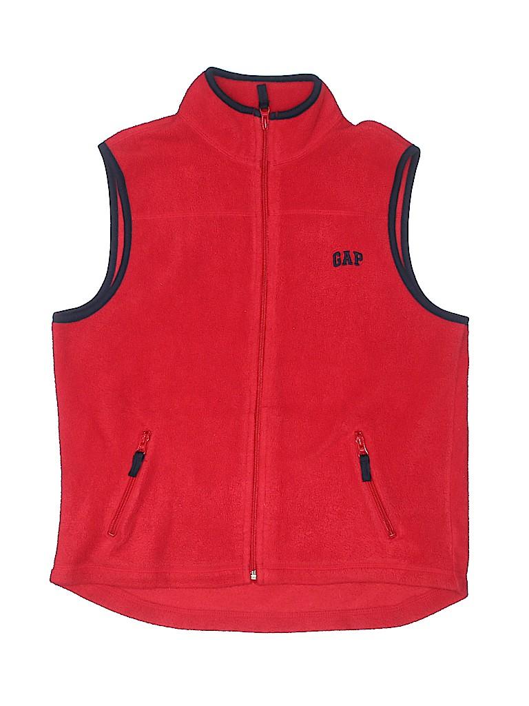 90071d19956f84 Gap Kids 100% Polyester Solid Red Vest Size 12 - 51% off