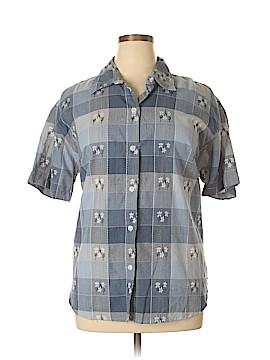 Jane Ashley Short Sleeve Button-Down Shirt Size 20 (Plus)