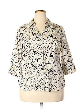 Alfani 3/4 Sleeve Button-Down Shirt Size 16W