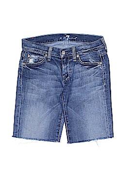 7 For All Mankind Denim Shorts 25 Waist