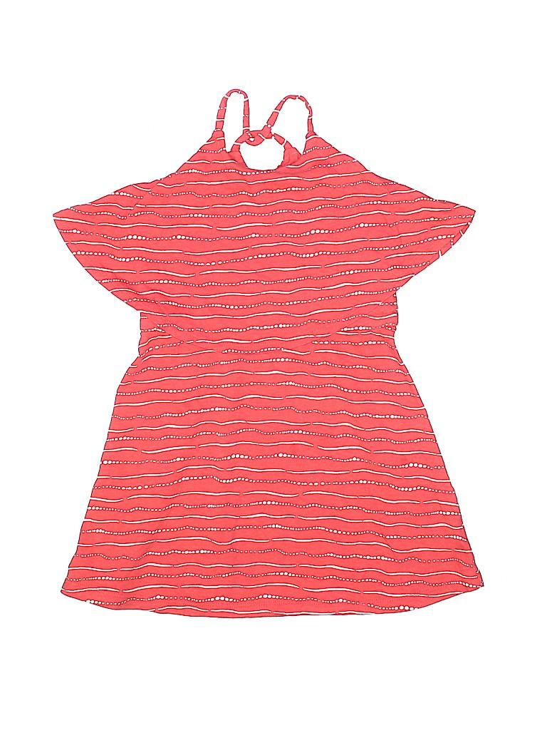 9d63c8c7d12 Old Navy 100% Cotton Stripes Coral Dress Size 5 - 80% off