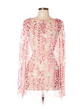 Elie Tahari Long Sleeve Silk Top Size L