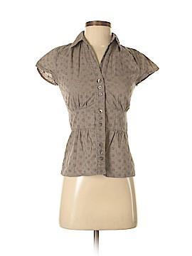 Ann Taylor Short Sleeve Button-Down Shirt Size 0