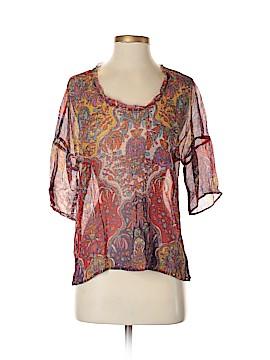 Sundance Short Sleeve Silk Top Size XS