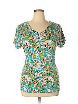 Allison Brittney Short Sleeve Blouse Size 2X (Plus)