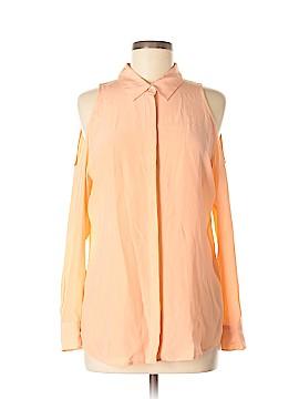 Equipment Long Sleeve Silk Top Size M