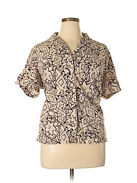 Cappagallo Short Sleeve Blouse Size 1X (Plus)