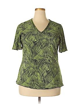 Russel Kemp New York Short Sleeve Blouse Size 1X (Plus)