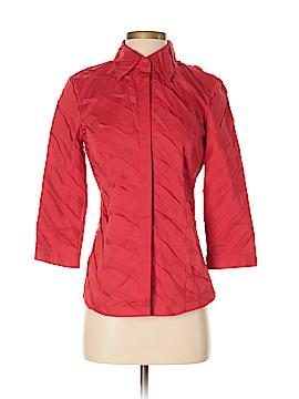 Lafayette 148 New York 3/4 Sleeve Button-Down Shirt Size 0