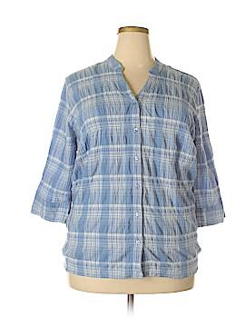 Essentials 3/4 Sleeve Blouse Size 2X (Plus)
