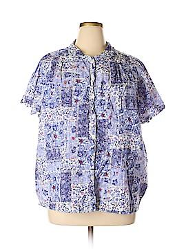 IB Diffusion Short Sleeve Button-Down Shirt Size 3X (Plus)