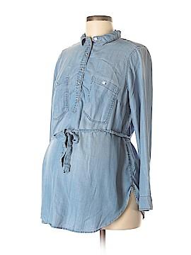 H&M Mama Long Sleeve Button-Down Shirt Size M (Maternity)