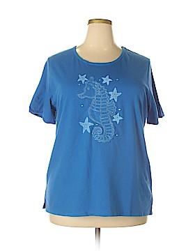 Quacker Factory Short Sleeve T-Shirt Size 1X (Plus)