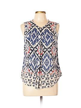 Fleur bleue Sleeveless Button-Down Shirt Size L
