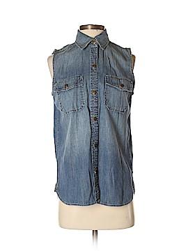 Current/Elliott Sleeveless Button-Down Shirt Size 0